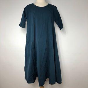 UNIQLO and LEMAIRE Seersucker Short Sleeve Dress